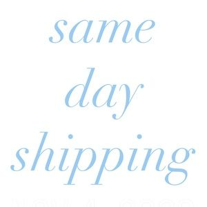 Same Day Shipping On All Orders**